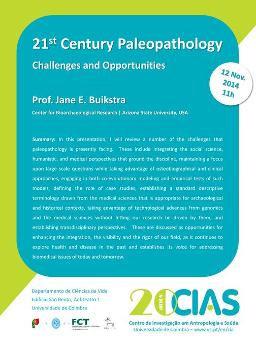 21st century paleopathology. Challenges and opportunities
