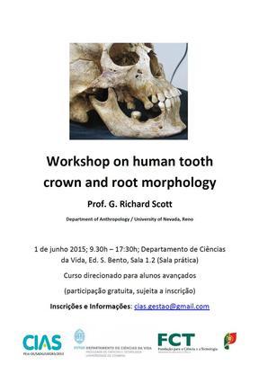 Cartaz de curso avançado em Antropologia dentária