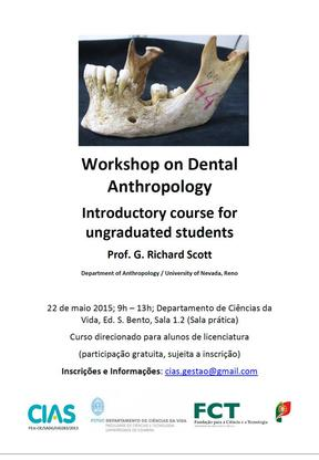 Cartaz de curso de iniciação em antropologia dentária