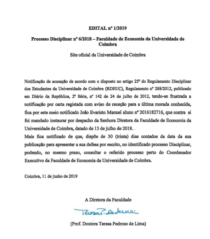 Edital n.º 1/2019 - FEUC