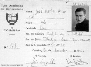 José Amaral - Membro da Tuna Académica