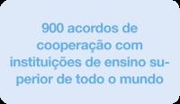 900 acordos de cooperação