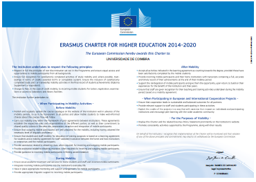 UC Erasmus Charter for Higher Education