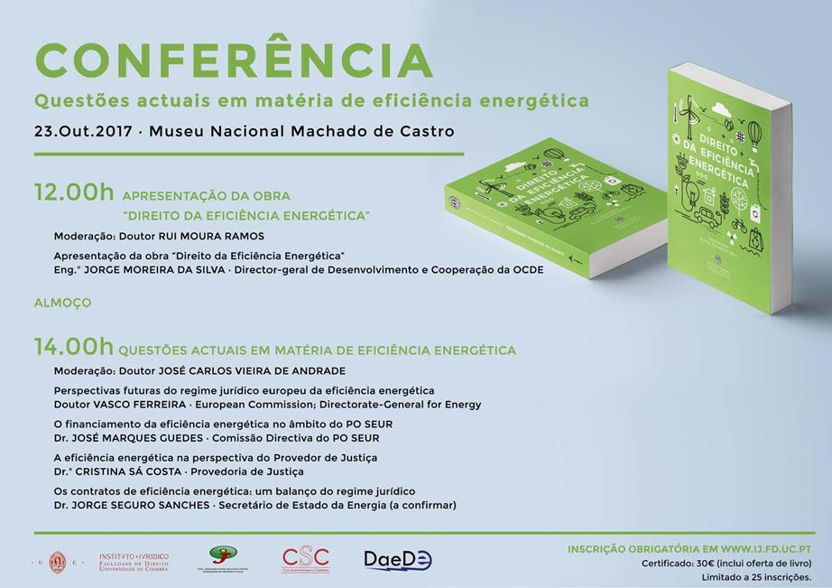 Conferência - Questões atuais em matéria de eficiência energética