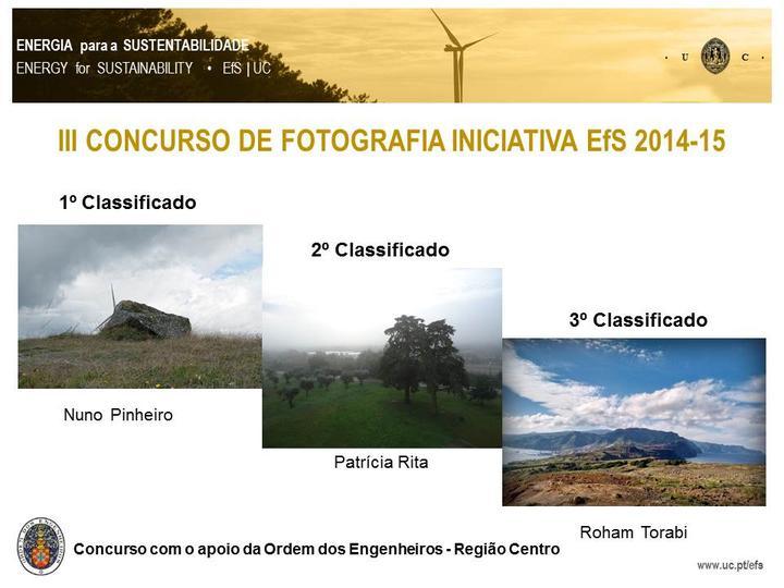 III Concurso de Fotografia Iniciativa EfS 2015 | Premiados