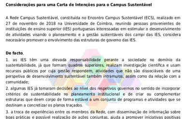 Capa da Decisão sobre uma Carta de Intenções