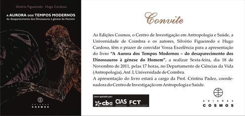 Convite Livro Hugo Cardoso