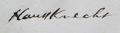 Haussknecht Signature