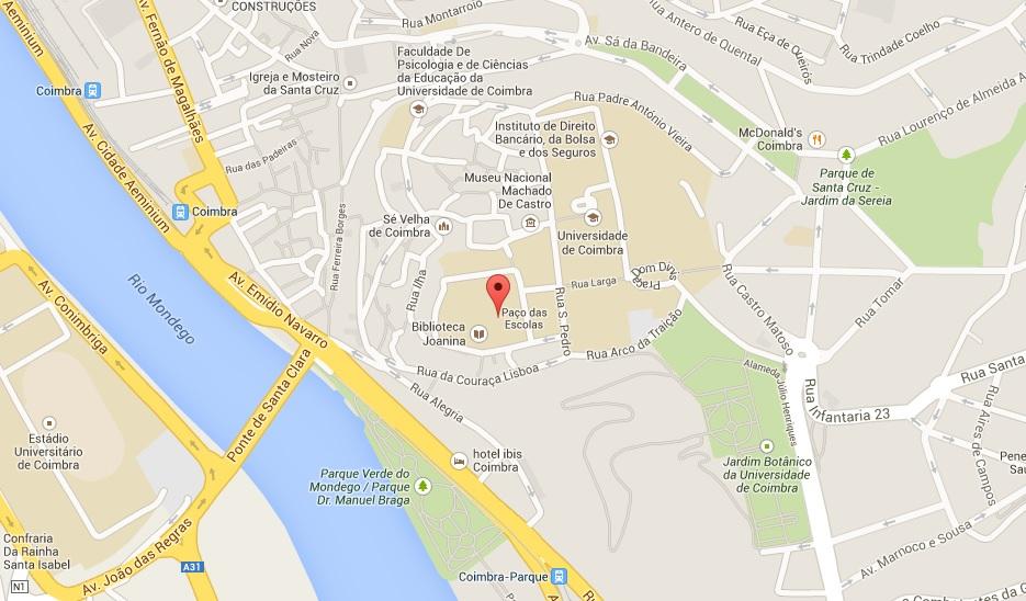 Map Coimbra