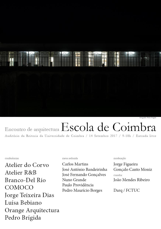 Encontro de Arquitectura ESCOLA DE COIMBRA
