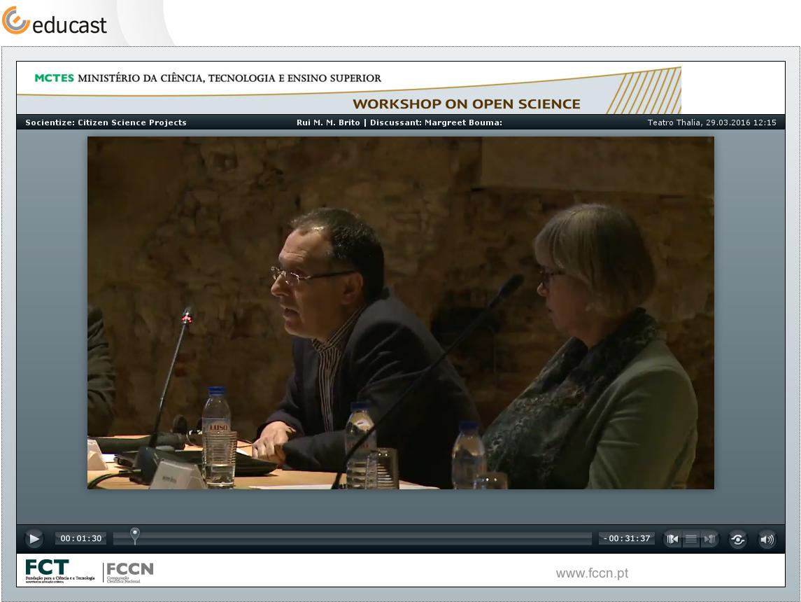 Socientize: Citizen Science Project @ Workshop on Open Science