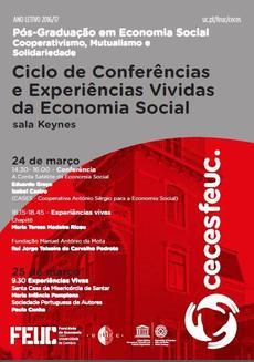 Cartaz conferencias e experiências vivas