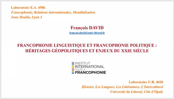 Francophonie 2020 (III)