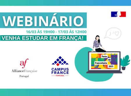 Webinário Estudar em Francês