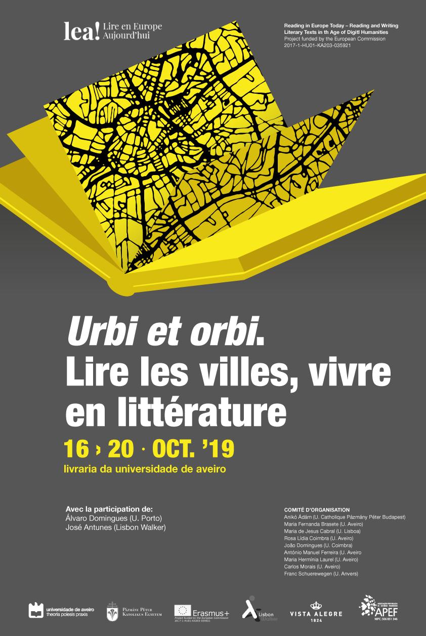 Colloque/Workshop LEA! « Urbi et orbi. Lire les villes, vivre en littérature »
