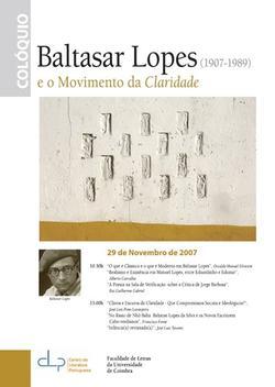 Cartaz - Baltasar Lopes e o Movimento da Claridade