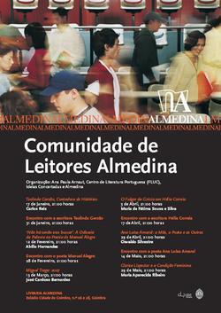 Cartaz - Comunidade de Leitores Almedina (Jan-Mai2008)