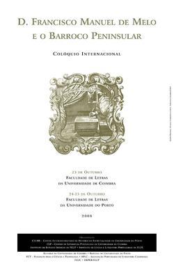Cartaz - D. Francisco Manuel de Melo e o Barroco Peninsular