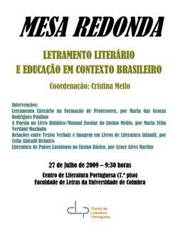 Cartaz - Letramento Literário
