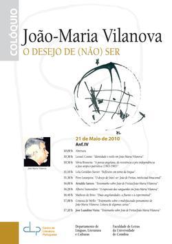 Cartaz - Colóquio João-Maria Vilanova