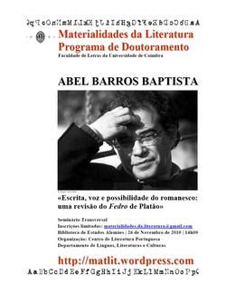 Cartaz - Abel Barros Baptista