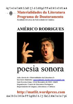 Cartaz - Américo Rodrigues