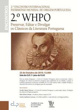 Cartaz - Preservar, Editar e Divulgar os Clássicos da Literatura Portuguesa