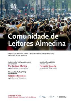 Cartaz - Comunidade de Leitores Almedina (Fev-Abr 2011)