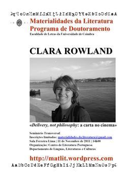 Cartaz - Clara Rowland