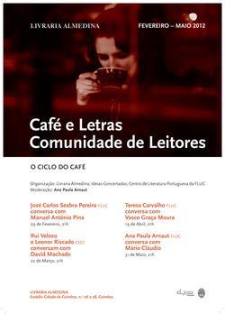 Cartaz - Café e Letras: Comunidade de Leitores