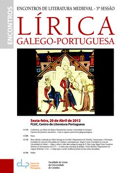 Cartaz - 5º Encontro de Literatura Medieval