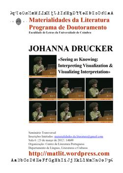 Cartaz - Johanna Drucker