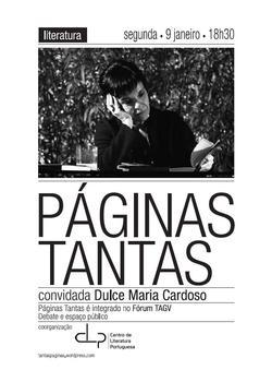 Cartaz - Páginas Tantas 01: Dulce Maria Cardoso