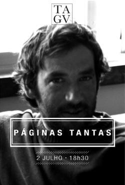 Cartaz - Páginas Tantas 07: Bernardo Carvalho