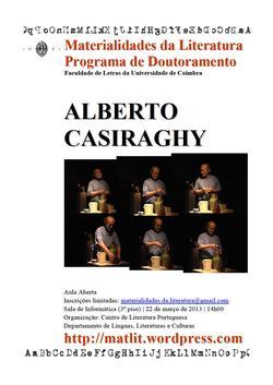 Cartaz - Aula aberta: Alberto Casiraghy