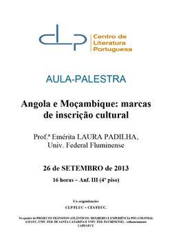 Cartaz - Angola e Moçambique: marcas de inscrição cultural