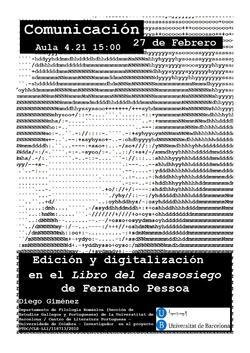 Edición y digitalización en el Livro del desasosiego