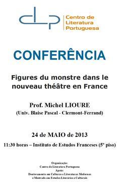 Cartaz - Figures du monstre dans le nouveau théâtre en France