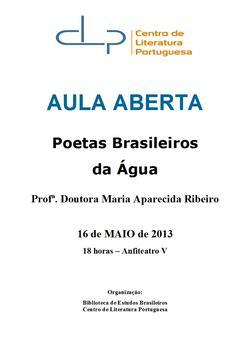 Cartaz - Poetas Brasileiros da Água