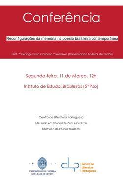 Cartaz - Reconfigurações da memória na poesia brasileira contemporânea