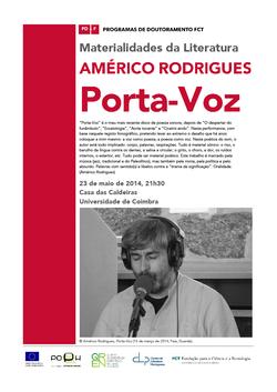 Cartaz - Américo Rodrigues: Porta-Voz