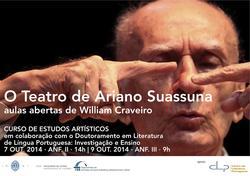 Cartaz - O Teatro de Ariano Suassuna