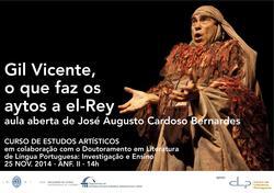 Cartaz - Gil Vicente, o que faz os aytos a el-Rey