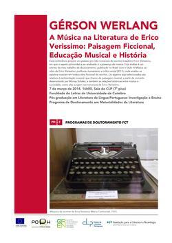 Cartaz - Conferência Gérson Werlang