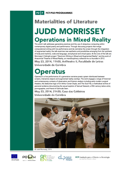 Cartaz - Judd Morrissey: Operations in Mixed Reality