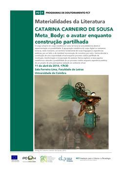 Cartaz - Meta_Body: Aula Aberta de Catarina Carneiro de Sousa