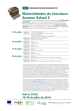 Cartaz - Materialidades da Literatura: Summer School 2