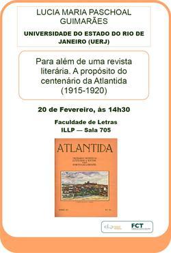 Cartaz - Revista Atalntida - Professora Lucia Maria Paschoal Guimarães
