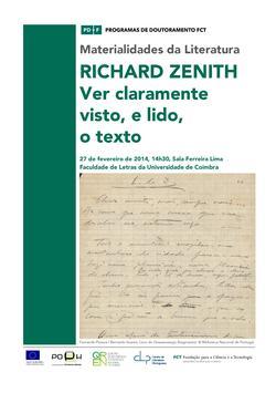 Cartaz - Seminário por Richard Zenith