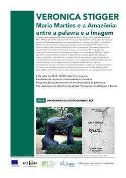 Cartaz - Veronica Stigger, «Maria Martins e a Amazônia: entre a palavra e a imagem»